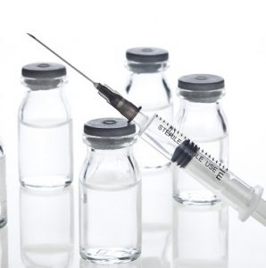 Glass Medicine Vials and Syringe